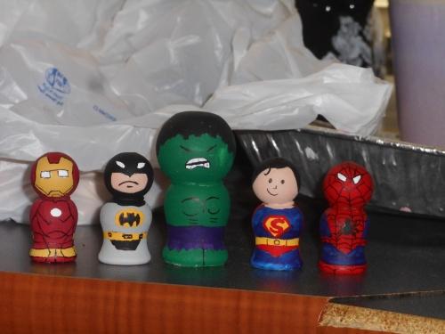 Super Hero Peg People
