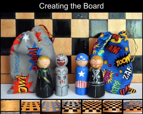 Creating super hero board collage