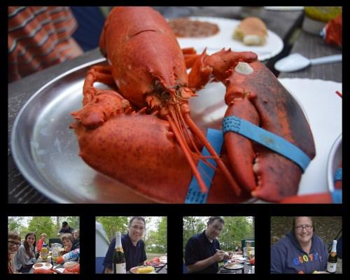 Maine Anniversary Dinner Collage