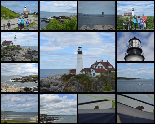 Maine Portland Head Light Collage